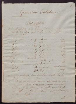 Digitalizan un manuscrito de 1840 con una de las primeras gramáticas catalanas