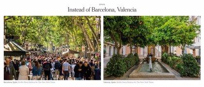 """El New York Times recomienda viajar a València en vez de a Barcelona para """"refugiarse"""" de la masificación"""