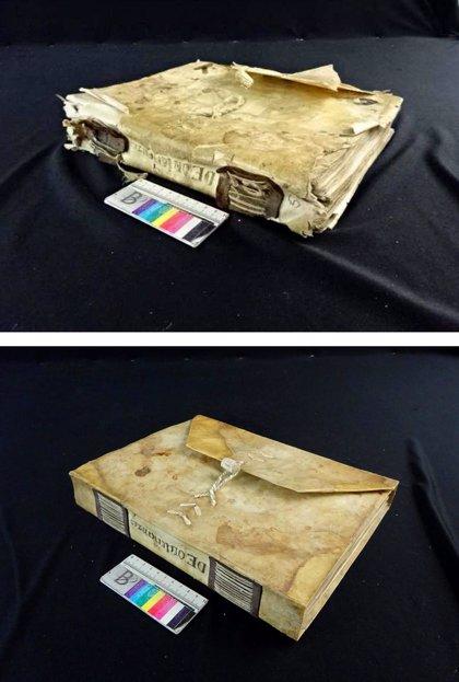 El Archivo de Navarra restaura un códice medieval de ordenanzas del Ayuntamiento de Olite