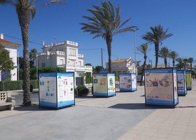 La Diputación de Barcelona conciencia sobre el uso del plástico con una exposición en Sitges