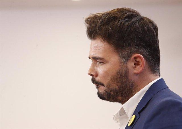 """Rufián insisteix que Podem """"no té legitimitat"""" per demanar ministeris i li aconsella """"una reflexió interna"""""""