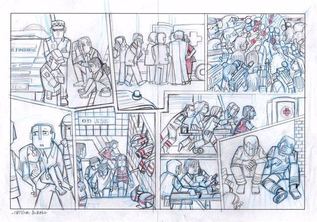 """Cultura.- El cómic """"militante"""" de Cristina Durán lleva a Pepita Lumier la memoria de las víctimas del metro"""