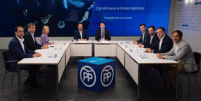 Reunión de Teodoro Egea con el PP canario