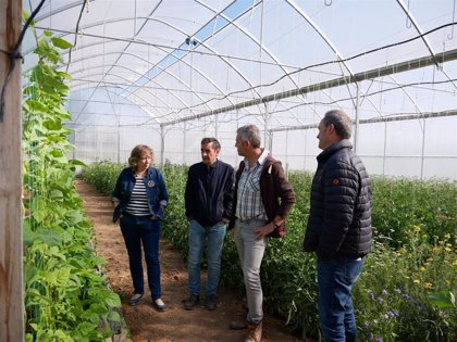 Elizalde visita el Centro de ensayos de producción ecológica de INTIA en Sartaguda