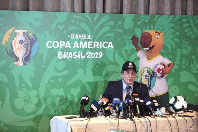 2019 Copa America press conference in Sao Paulo