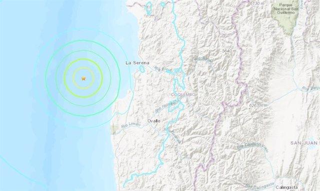 Chile.- Registrado un terremoto de magnitud 6,4 en el norte de Chile