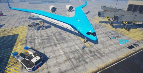 Un avión con forma de V y pasajeros en las alas: así es la última novedad en aeronaves 'sostenibles'