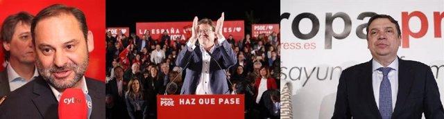 Los ministros Ábalos y Planas arropan a Puig en su proclamación de este domingo