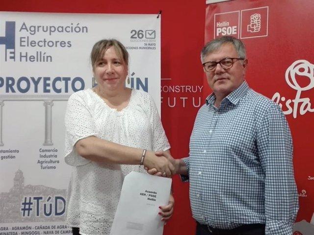 PSOE gobernará Hellín con apoyo de la única edil de la Agrupación de Electores, que será concejal de Industria y Turismo
