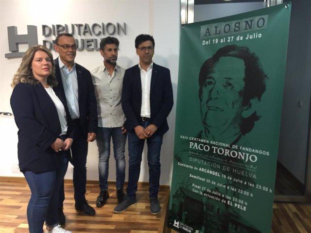 Huelva.- Alosno acogerá en julio su XXIII certamen nacional de fandangos 'Paco Toronjo' con Arcángel como protagonista