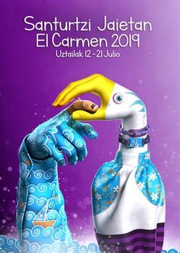 Una obra del artista murciano Rubén Alesandro Lucas García, elegido cartel anuncidor de las fiestas de Santurtzi 2019