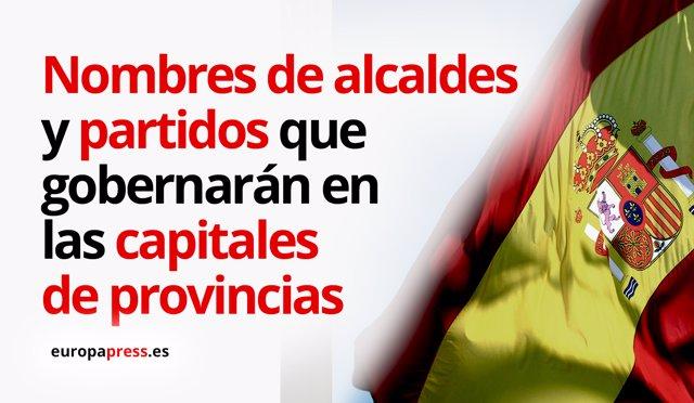 Alcaldes y partidos que gobernarán en las capitales de provincias