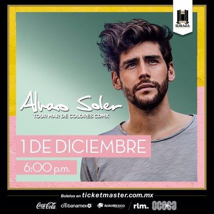 Álvaro Soler anuncia concierto en Ciudad de México