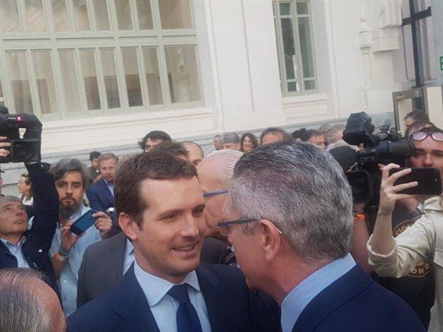 """Casado titlla de """"molt positiu"""" l'acord aconseguit amb Ciutadans a l'Ajuntament de Madrid"""