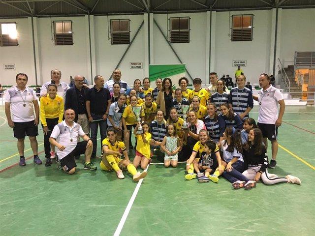 Jaén.- Martos FS y Escuela de Fútbol Internacional conquistan la Copa Delegada del Gobierno de la Junta
