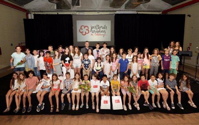 Uns 65.000 alumnes participen en els sisens Jocs Florals escolars de Catalunya
