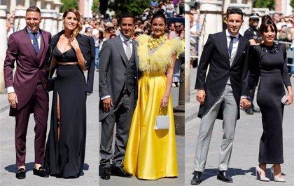 El negro y el amarillo triunfan en la boda de Sergio Ramos y Pilar Rubio
