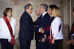 Manuel Valls nega la salutació a Torra i el PP planta el president de la Generalitat (DAVID ZORRAKINO - EUROPA PRESS)