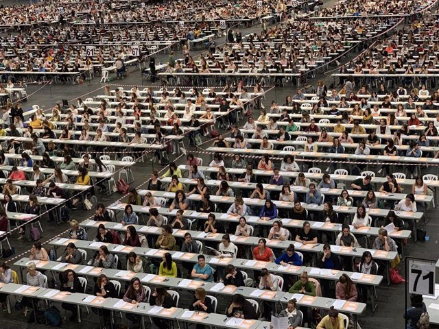 Un total de 6.567 aspirantes se presentan a la primera prueba de la OPE 2019 de Educación, que convoca 1.867 plazas