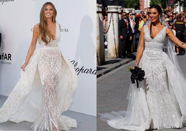 Pilar Rubio, su vestido de novia como Heidi Klum