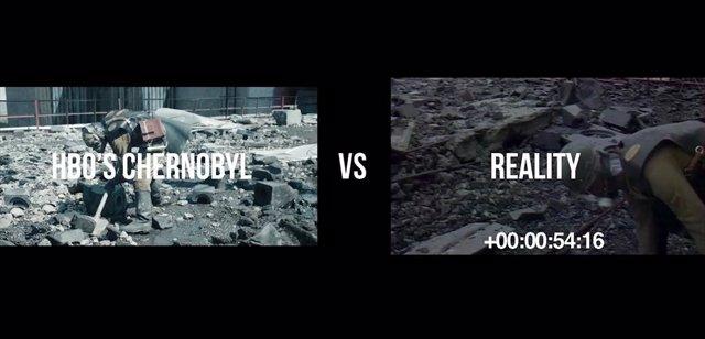 Chernobyl: Realidad vs. Ficción en este asombroso vídeo