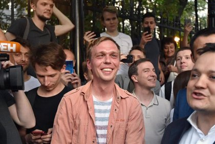Cientos de manifestantes protestan en Moscú contra la Policía por denigrar al periodista Igor Golunov