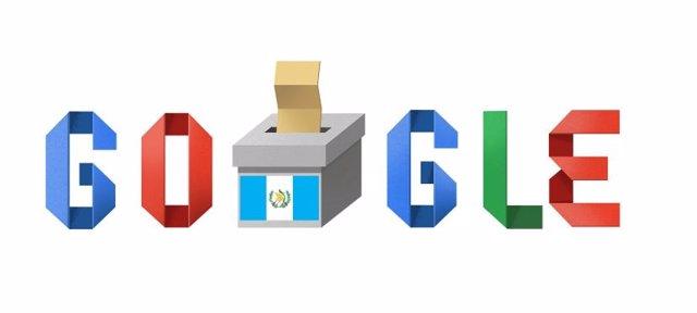 Google celebra las elecciones en Guatemala con unn 'doodle'
