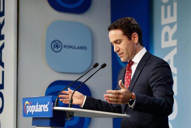 """García Egea, sobre la investidura: """"Sánchez no pot venir al fet que el PP li solucioni la papereta en la primera ronda"""""""