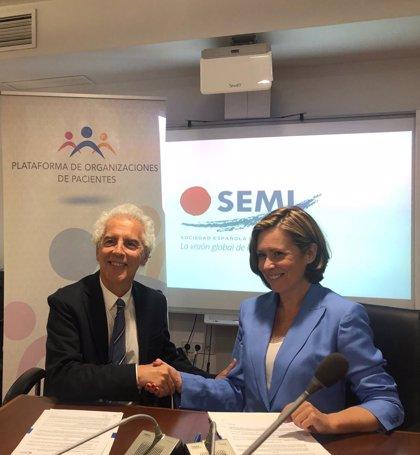 La SEMI y la Plataforma de Organizaciones de Pacientes han firmado un acuerdo para mejorar la atención sanitaria