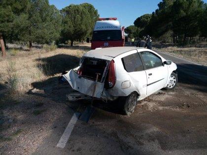 Herido un varón de 28 años tras una salida de vía en Pedrajas (Valladolid)