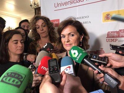 """Calvo agradece a Revilla su """"disponibilidad"""" para investir """"pronto"""" a Pedro Sánchez"""