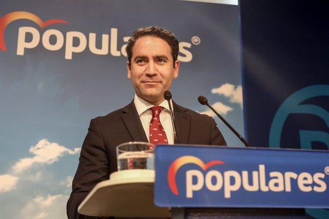 """García Egea insiste en que el PP no se abstendrá en la investidura de Sánchez porque """"puede llegar a pactar con la CUP"""""""