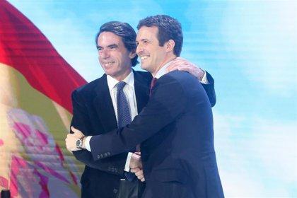 Aznar ficha a Casado y Rivera para el 'Aula de Liderazgo' del Instituto Atlántico y la Universidad Francisco de Vitoria
