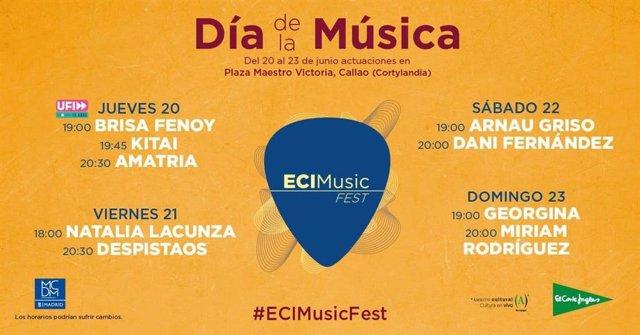 Despistaos, Arnau Griso, Brisa Fenoy, Natalia Lacunza, Miriam Rodríguez y Kitai actuarán gratis en el centro de Madrid
