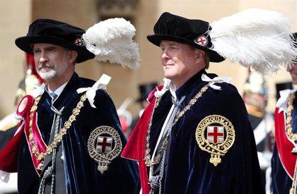 El Rey Felipe y Guillermo de Holanda nombrados caballeros de la Orden de la Jarretera por la Reina Isabel II