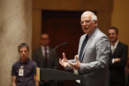 """Borrell pide a la UE apoyo a la vía de Oslo para que """"no embarranque"""" la negociación"""