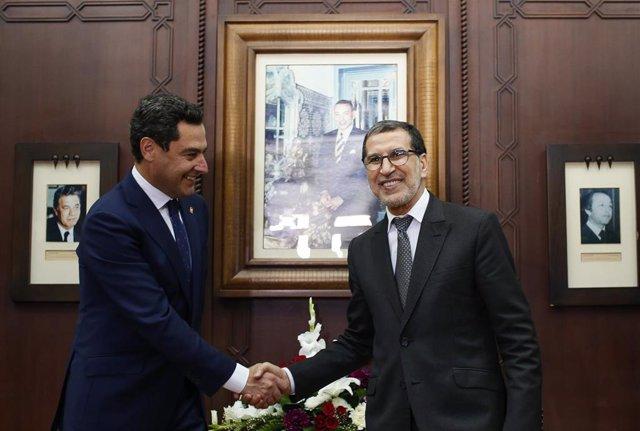 Juanma Moreno, se reúne con el primer ministro del Reino de Marruecos, Saad-Eddine El Otmani
