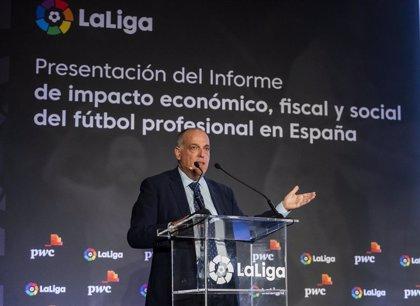 """Tebas: """"No habrá una Liga de 21, creo que el Girona jugará en Segunda"""""""