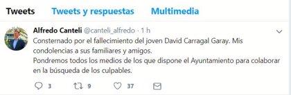 Canteli utilizará todos los medios del Ayuntamiento para encontrar a los asesinos de David Carragal