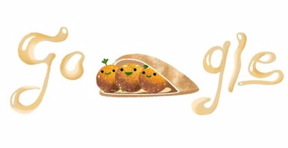 Google homenajea en su 'doodle' al faláfel, la croqueta picante que conquistó Oriente Medio