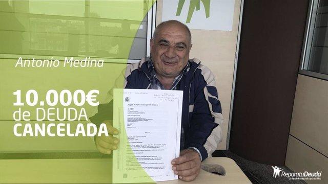 COMUNICADO: Perdonados 9.913  con la ley de la segunda oportunidad a una persona mayor de Barcelona
