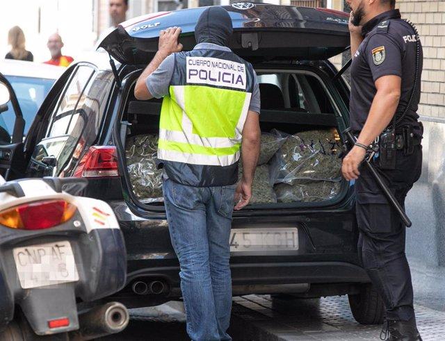Operación policial contra el narcotráfico en Sevilla