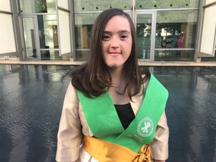 Blanca San Segundo, primera persona con síndrome de Down que finaliza un Grado universitario en España