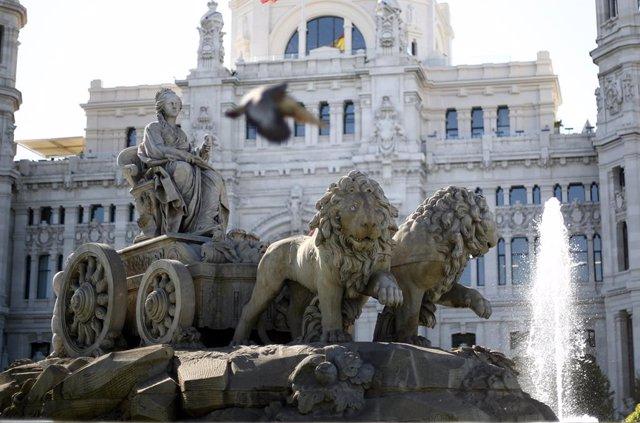 Imágenes del Ayuntamiento de Madrid y de la Fuente de Cibeles
