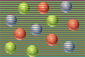 El último efecto óptico que revoluciona Twitter, ¿de qué color ves las esferas?