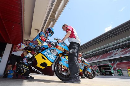 Àlex Márquez y Arón Canet, protagonistas del test de Montmeló para Moto2 y Moto3