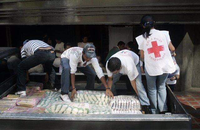 La Cruz Roja Venezolana emite su primer informe de distribución de asistencia humanitaria