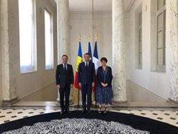 Xavier Espot es reuneix per primera vegada amb Macron en el Palau de l'Elisi (SFG)