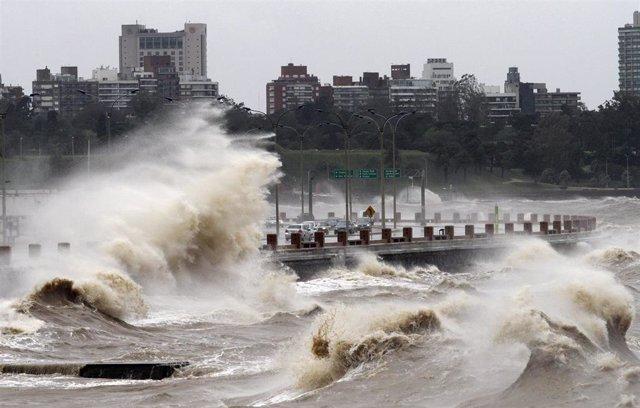 Ciclón en Montevideo en 2012