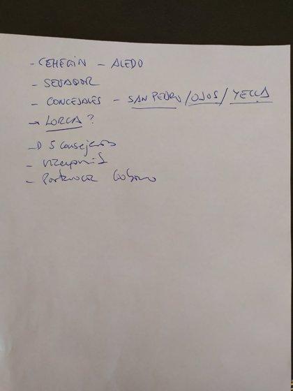 VOX encuentra un documento en el que Cs pediría la Vicepresidencia del Gobierno regional, la Portavocía y 5 consejerías